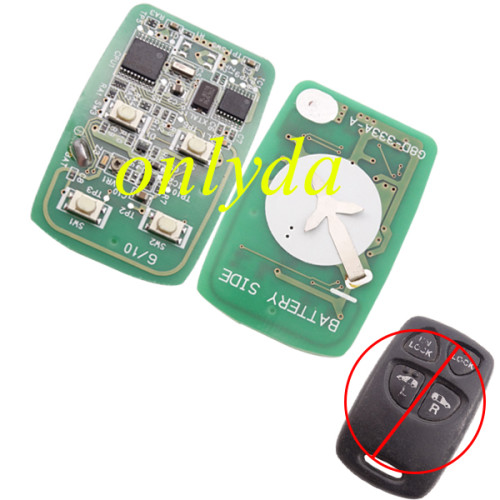 For Mazda original 4 button remote key PCB only