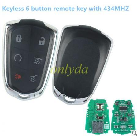 smart keyless 6 button remote key with 434MHZ
