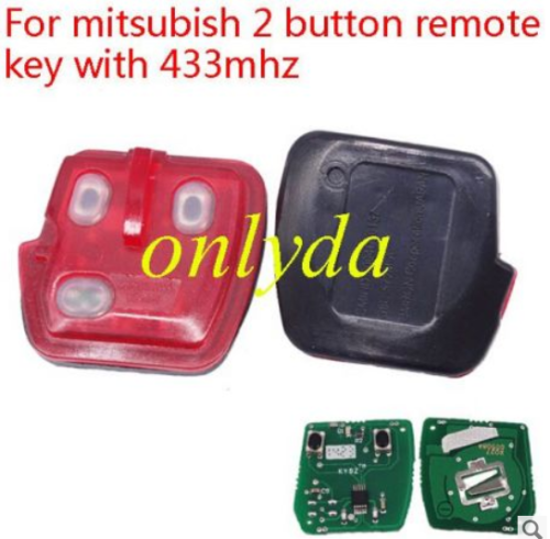 For mitsubish 2 button remote key with 315mhz/433mhz