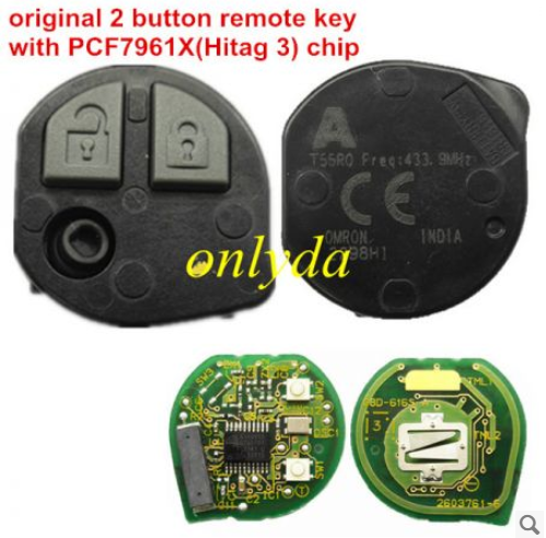 2 button remote key with PCF7961X(Hitag3)