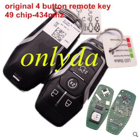 original keyless 4 button remote key 49 chip-434mhz KCC-CRM-TAL-A2C81541400 A2C92465102 K-D0240 08 5R2-S
