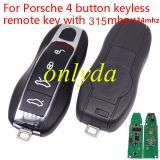Porsche 4 button keyless  remote key with 315mhz