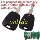 For peugeot 2B remote 406 NE78 blade with PCF7961 chip 46 chip