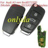 original for Audi A3 remote keyless remote key