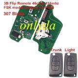 3B Flip Remote Key 433mhz (battery on PCB) FSK model with 46 chip