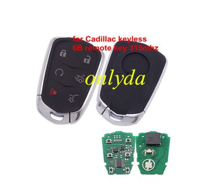 For Cadillac smart keyless 6 button remote key with 315mhz