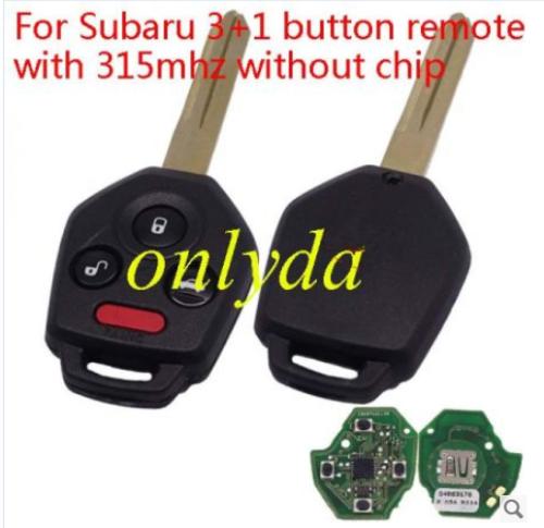 For original Subaru 3+1 button remote with 315mhz