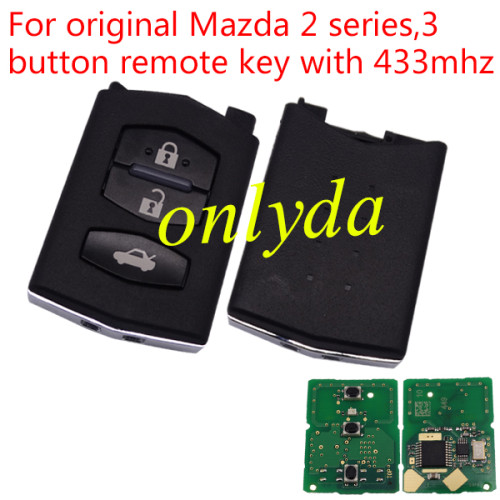 For original Mazda 2 series,3 button remote key with 433mhz