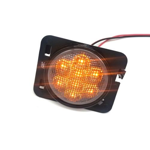 1 Pair Amber Front LED Fender Side Light Combo Lens Wholesale Price  for Jeep Wrangler JK Amazon,Ebay,Wish Hot Seller