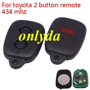 toyota 2 button remote 434 mhz