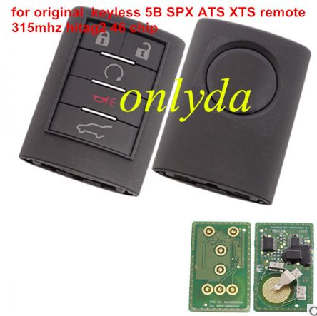For original Cadillac keyless 5 button SPX ATS XTS remote key with 315mhz ,Smart GM hitag2 chip