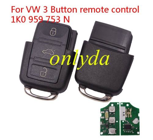 For VW 3 Button remote control 1K0 959 753 N