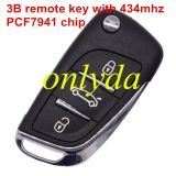 3 button remote key with 434mhz PCF7941 chip FSK model