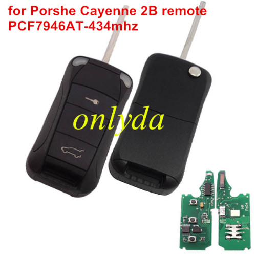 Porshe Cayenne 2 button remote key with PCF7946AT(HITAG2) with 433mhz &LED light