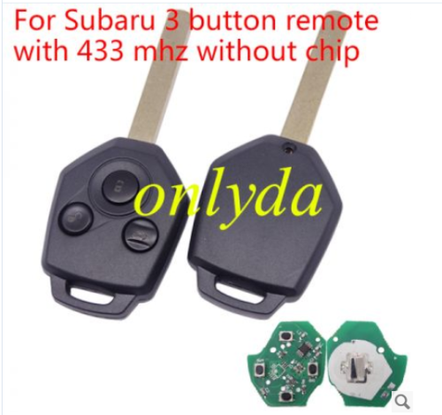 For Subaru 3 button remote with 433 mhz without chip
