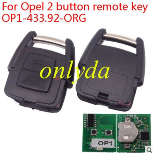 For Opel 2 button remote key OP1-433.92-ORG