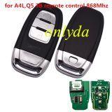 For Audi A4L,Q5 3B remote 315mhz/434mhz/868mhz Remote System 8T0-959-754C 8K0-959-754G 8T0-959-754G 8KO-959-754J 8KO-959-754C
