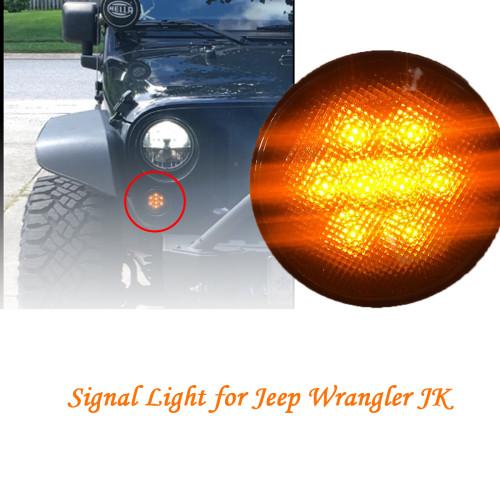 1 Pair Amber Front LED Turn Signal Light Wholesale Price for 2007-2017 Jeep Wrangler JK Amazon,Ebay,Wish Hot Seller