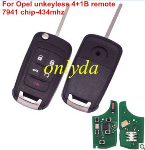 For opel unkeyless 4+1B remote 7941chip with 315mhz / 433mhz
