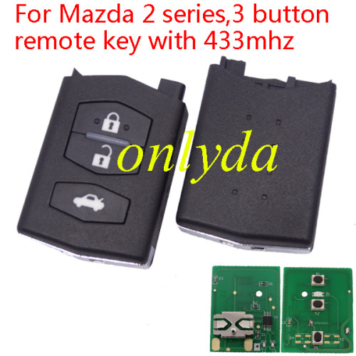 For Mazda 2 series,3 button remote key with 433mhz