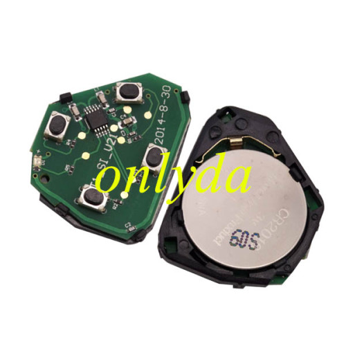 Toyota 3+1 button remote key with  FCCID   HYQ12BDC--314.4Mhz