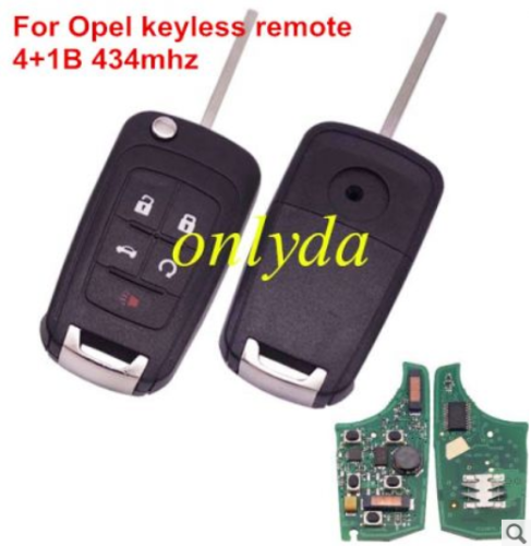 For Opel keyless 4+1B remote 315mhz/434mhz-7952 chip