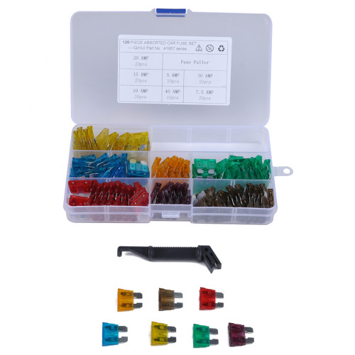 120Pcs Blade Fuse Set Kit-Wholesale Price for 5-40Amp Fuses Cars,SUV,Motorcycles/Shopify,Amazon,Ebay,Wish Hot Seller