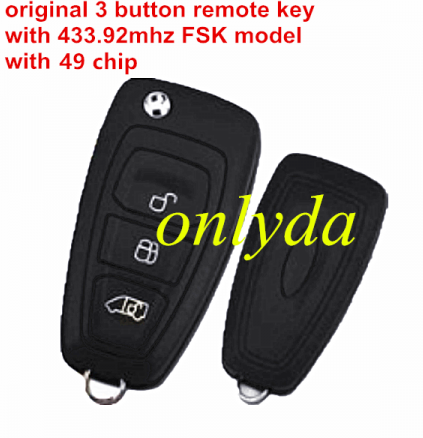 original 3 button remote key with 433.92MHZ FSK model with 49 chip GK2T15K601-AB A2C94379403