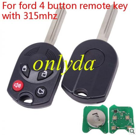 For ford 4 button remote  key with 315mhz