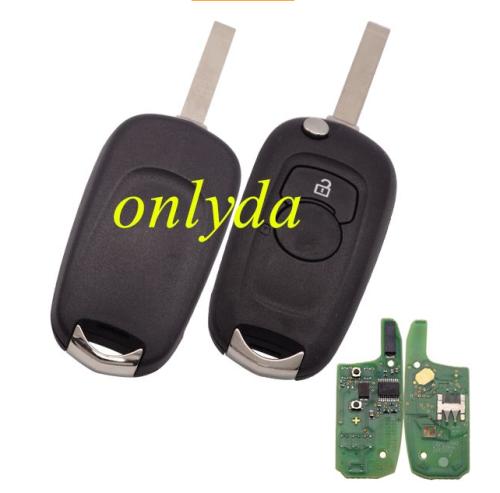 For original Vauxhall 2B flip remote PCF7961E HITAG2 chip-434mhz