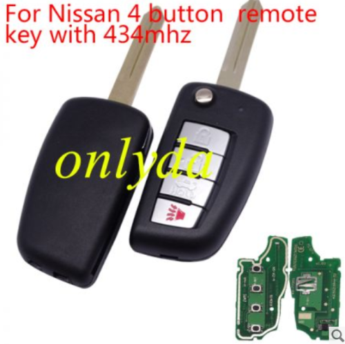 For Nissan 4B remote key with 315mhz/433mhz electronic wave modle