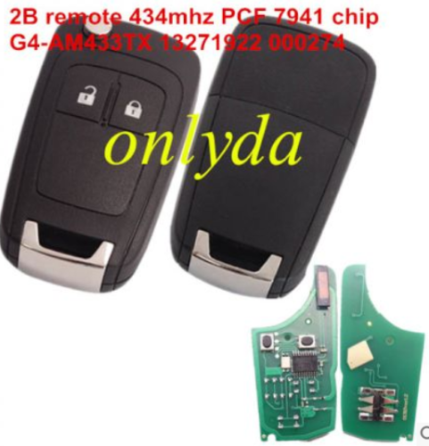 2 button remote key withPCF 7941 chip-434mhz G4-AM433TX 13271922 000274
