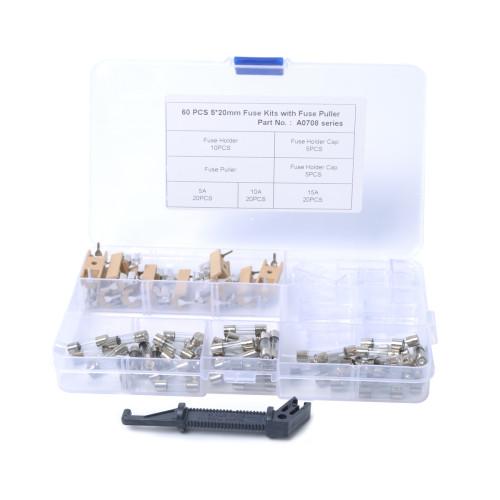 60Pcs Universal 5A 10A 15A M5*20mm Car Fuse w PCB Fuse Holder Kits Wholesale Price Amazon Ebay Wish Hot Seller