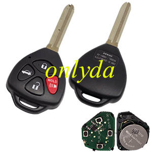 Toyota 3+1 button remote key with  FCCID GQ4-29T--315mhz