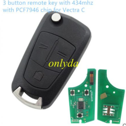 3 button remote 434mhz PCF7946 chip for Vectra C