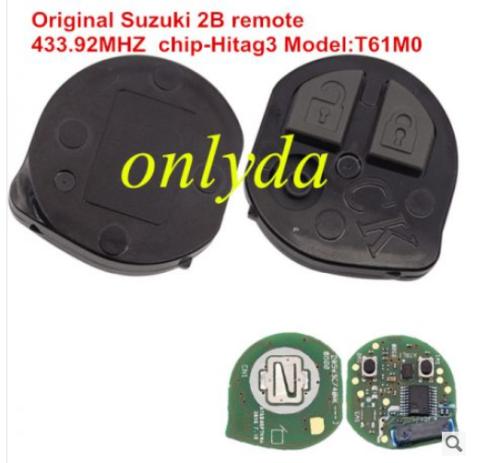 For Original Suzuki 2 button remote key 433.92MHZ chip-Hitag3 Model:T61M0