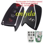 Hyundai 3+1 button remote key  434MHZ 4D70+dst40  Model:SEKSHG10B0B KCC:SCK-SEKSHG10B0B  CMIIT ID: 2011DJ0456