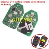 original 2+1 button remote with 447mhz PCB only