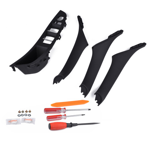 4PCS Black Interior Door Handle With Repair Kit-Wholesale Price  for BMW OE:51417225873/Shopify,Amazon,Ebay Hot Seller