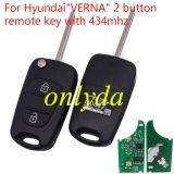 For hyundai  VERNA  2 button remote key with 434mhz