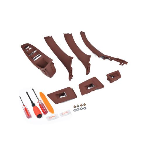 7PCS Reddish Brown Interior Door Handle With Repair Kit-Wholesale Price for BMW OE:51417261929/Shopify Hot Seller