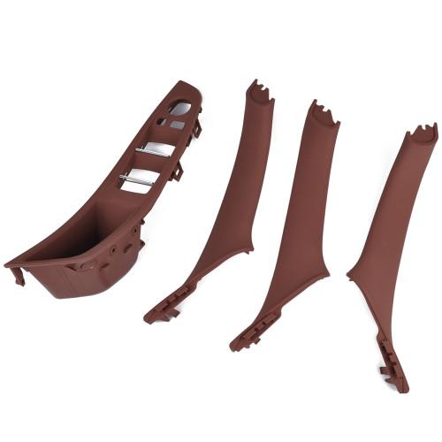 4Pcs Reddish Brown Inner Door Handle-Wholesale Price  for BMW 5 Series OE:51417261929/Shopify,Amazon,Ebay Hot Seller