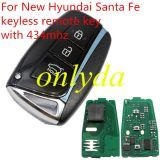 For New hyundai Santa Fe keyless remote key with 434mhz with PCF7945/7953