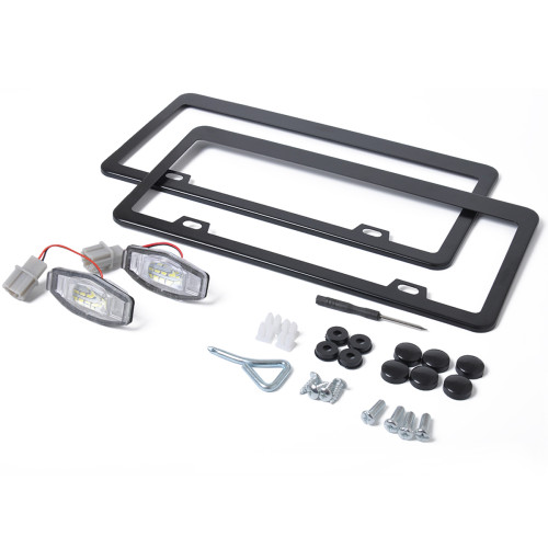 2 x LED License Plate Light with Licence frame Wholesale Price  for Honda Civic OE:34100S84A01 Ebay,Wish Hot Seller