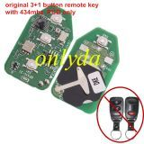 original for Hyundai 3+1 button remote key with 434mhz PCB only