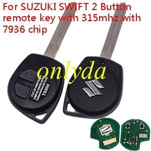 SUZUKI SWIFT 2 Button remote key with 315mhz with 7936 chip