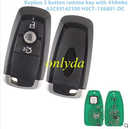 keyless 3 button remote key with 434mhz A2C93142100 HSCT-15K601-DC