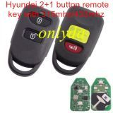 For original hyun 2+1B remote 315mhz original PCB and after market key shell