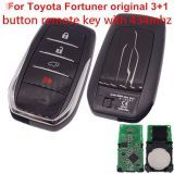 For Toyota Fortuner original 3+1 button remote key with 434mhz