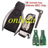For Benz 3 button remote smart key (European style) with 434MHZ/315MHZ-NEC chip